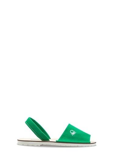 Benetton Bn1009 Kadın Sandalet Yeşil